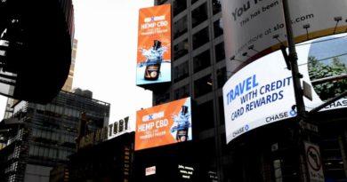 Διαφήμιση CBD στην Times Square